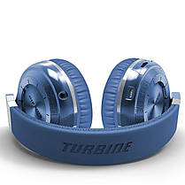 ☀Bluetooth гарнитура Bluedio T2 Plus Blue трансформер беспроводная с микрофоном разъем microSD FM Радио, фото 3