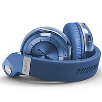 ☀Bluetooth гарнитура Bluedio T2 Plus Blue трансформер беспроводная с микрофоном разъем microSD FM Радио, фото 2