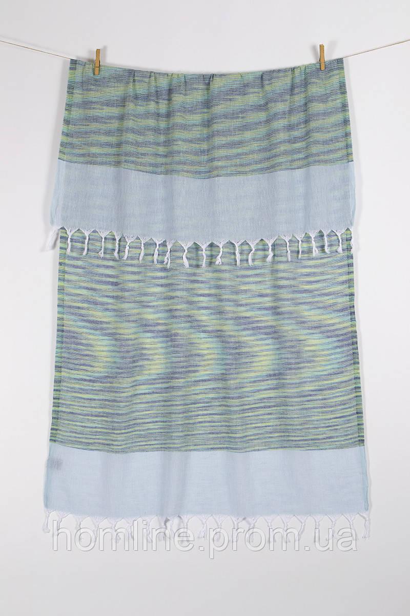 Полотенце Barine Pestemal Marble 90*160 Green-Mint зелено-ментоловое