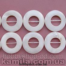 Намистина перламутр коло (2,5*2,5 см) 16 шт(грані закруглені)