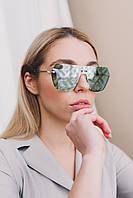 Cолнцезащитные женские очки 18358 зеленые