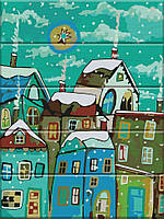 """Картина по номерам по дереву. """"Сказочный город"""" ASW025"""