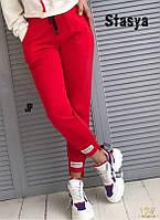 Спортивные штаны укороченные двунить красный серый черный 42 44 46 48