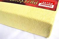 Простынь (наматрасник) VOLEN На резинке из махры Молочная 140x200+24 см