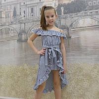 Платье-шорты (19 синяя  полоска), фото 1
