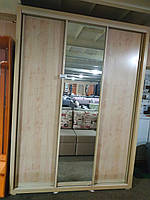 Шкаф-купе 1800х600х2400 фасад Ф-580 домино клен танзао (Панські меблі)