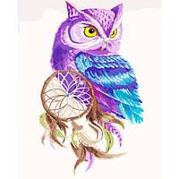 """Картина по номерам. Животные, птицы """"Ловец снов"""" 40х50см. KHO2482"""