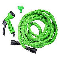 Поливальний шланг для дачі X-hose (Ікс-Госп) розтягується до 15 м з водораспылителем Зелений