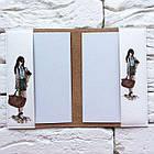 Обкладинка на паспорт Дівчина з вином (білий), фото 4