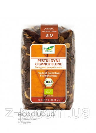 Тыквенные семечки темно-зеленые органические Bio Planet 350г