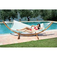 Гамак Venezia деревянный каркас F12 з гамаком  A1152 производство La Rete Италия