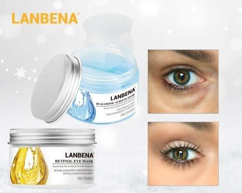 Набор LANBENA: Патчи с ретинолом Retinol Eye Mask + Патчи с гиалуроновой кислотой Hyaluronic Acid Eye Mask