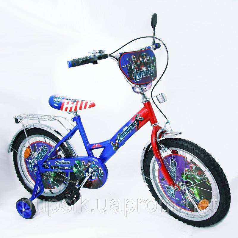 """Велосипед Герои 18 18A синий с красным, система: """"One piece crank"""""""