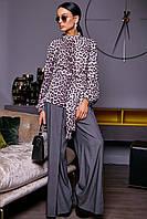Эффектная женская леопардовая блуза 1159 (42–50р) в расцветках, фото 1