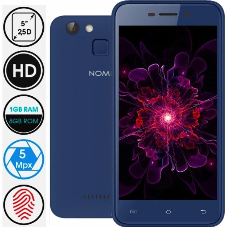 Смартфон Nomi i5012 Evo Blue Сканер отпечатка