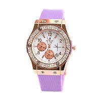 Женские кварцевые наручные часы Hublot Diamond, Red&Blue&Purple&Mint, фото 1