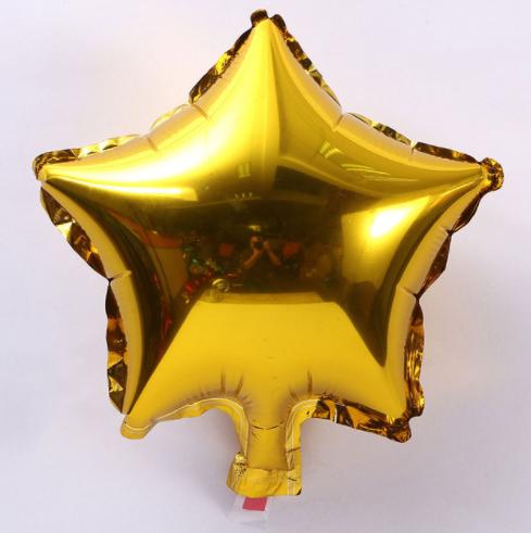 Шар звезда фольгированная, ЗОЛОТО - 24 см (9 дюймов) ОТ 50 ШТ