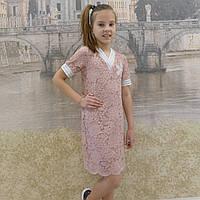 Платье -гипюр (пудра), фото 1