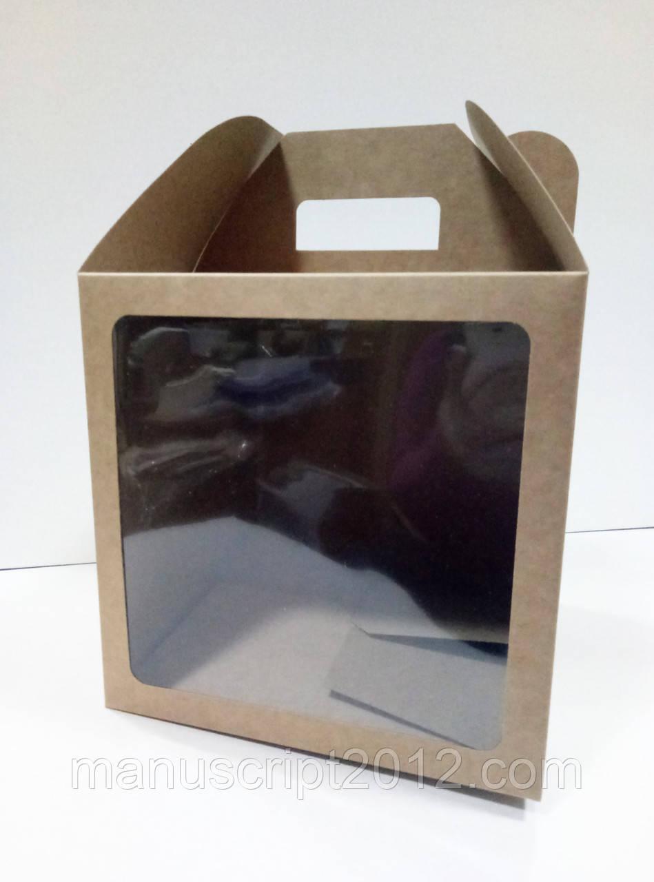 Коробка для тортов, куличей, пряничных домиков 240х240х240 мм.
