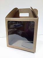Коробка для тортов, куличей, пряничных домиков 240х240х240 мм., фото 1