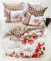 Karaca Home сатин євро комплект постільної білизни