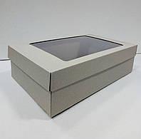 Подарочная коробка с  крышкой 350х210х100 мм., фото 1