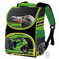 """Рюкзак школьный """"SMILE - Зеленый мотоцикл"""", ортопедический, коробка 34,5х25,5х13см."""