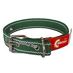 Ошейник двойной 20 мм х 510 мм капроновый / усиленный / с кольцом / двухслойный / ошийник / для собак