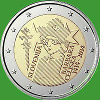Словенія 2 євро 2014 р. 600 років коронації Барбари Циллі. UNC