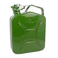 Канистра 5 литров, металлическая вертикальная 5 литров Сталь