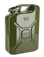 Канистра 10 литров, металлическая вертикальная Сталь