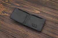 Мужской кожаный бумажник ручной работы VOILE mw10-blk