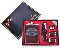 Подарочный набор Фляга 2 стопки нож лейка DJH-1084, фото 1