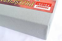 Простынь (наматрасник) VOLEN На резинке из трикотажа Серая 180x200+24 см