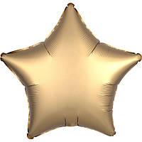"""Фольгированные шары без рисунка  18"""" звезда сатин Золотая s15 (Anagram)"""