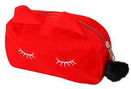 Косметичка спящий кот (красная)