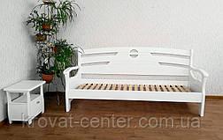 """Белый односпальный диван кровать из массива дерева """"Луи Дюпон Люкс"""", фото 2"""