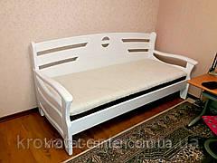 """Белый диван из натурального дерева """"Луи Дюпон Люкс"""", фото 3"""