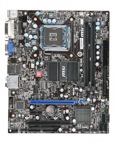 Материнская плата Б/У MSI G41M-P25 (s775, G41, DDR3, PCI-Ex16, mATX )