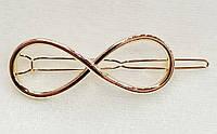 Заколка для волос Бесконечность (цвет золото), фото 1