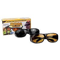 Антибликовые очки для водителей HD Vision Wrap Arounds 2 шт поляризованные 139512
