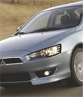 Защита фар Mitsubishi Lancer X (2007-г.в.Spirit)