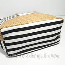 Пляжная сумка чёрная полоса, фото 3
