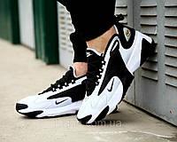 Мужские кроссовки Nike Zoom 2K White Black (найк зум 2к, белые / черные)