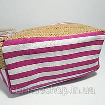 Пляжная сумка розовая полоса, фото 3