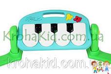 Розвиваючий дитячий музичний килимок Huanger HE0610 з двома дугами і мікрофоном - піаніно,підвіски, 789-13 П, фото 2