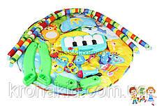 Розвиваючий дитячий музичний килимок Huanger HE0610 з двома дугами і мікрофоном - піаніно,підвіски, 789-13 П, фото 3