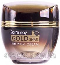 Антивозрастной Улиточный крем Farm Stay Gold Snail Premium Cream, 50 мл