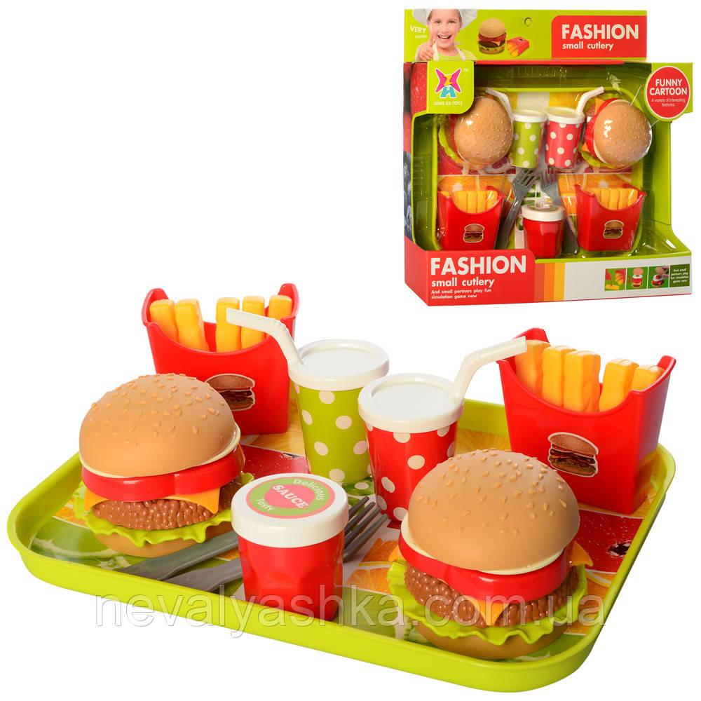 Детский набор Продукты Гамбургер посудка булочка Фастфуд игрушечные Макдональдс XJ326H-94 011047