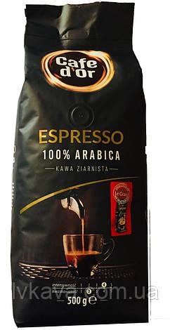 Кофе в зернах Espresso 100 % arabica Cafe d'Or  , 500 гр, фото 2